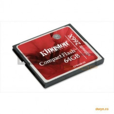 Compact Flash Card 64GB Kingston Ultimate 266X, Data Recovery Software - Card Compact Flash