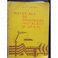 MATERIALE DE CONSTRUCTII, INSTALATII SI UTILAJ - Carti Constructii
