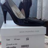 Pantofi piele - Pantof dama, Culoare: Negru, Marime: 39