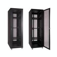 Linkbasic rack cabinet 19'' 42U 800x1000mm black (perforated steel front door) - Patch Panel