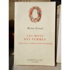 LES MOTS DES FEMMES , MONA OZOUF