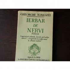 IERBAR DE NERVI - GHEORGHE TOMOZEI