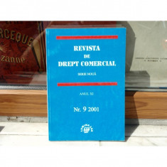 REVISTA DE DREPT COMERCIAL SERIE NOUA ANUL XI NR.9 2001, Cursuri - Curs drept