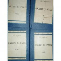 RAZBOI SI PACE - LEV TOSTOI - 4 VOLUME