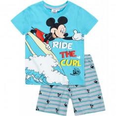 Pijama de vara Disney Mickey albastru curacao