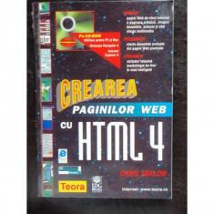 CREAREA PAGINILOR WEB CU HTML 4- DAVE TAYLOR - Carte despre internet