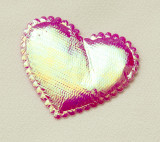 Decoratiuni - set de inimi irizate