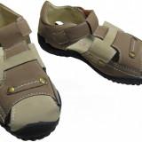 Sandale baieti, Primii Pasi, 365681 - Sandale copii Primii Pasi, Marime: 28, 29, 30, 31, 32, 33, 34, 35, Culoare: Maro, Verde, Piele intoarsa