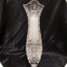 VAZA MARE CRISTAL SLEFUIT MANUAL 34 CM - Vaza sticla