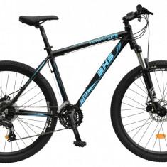 Bicicleta DHS Terrana 2725 Culoare Negru/Albastru – 495mmPB Cod:21527254960 - Mountain Bike DHS, 19.5 inch
