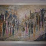 Impresionant Tablou Ulei in Cutit, Impresionism, Semnat Scoala franceza! - Pictor strain, Abstract