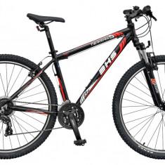 Bicicleta DHS Terrana 2923 Culoare Negru/Rosu 457mmPB Cod:21529234562 - Mountain Bike DHS, 18 inch