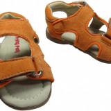 Sandale baieti, Primii Pasi, 365720 - Sandale copii Primii Pasi, Marime: 25, Culoare: Orange, Piele intoarsa