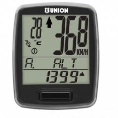 Kilometraj Union 12 Functii Wireless NegruPB Cod:588040331RM, Ciclocomputer bicicleta