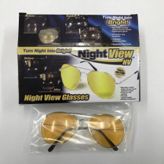 Ochelari de condus noaptea - NightVision, Unisex, Galben