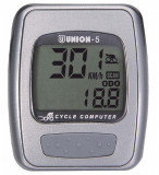 Kilometraj Union 5 Functii cu Fir ArgintiuPB Cod:588040080RM, Ciclocomputer bicicleta