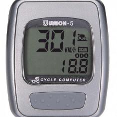 Kilometraj Union 5 Functii cu Fir ArgintiuPB Cod:588040080RM - Accesoriu Bicicleta