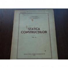 STATICA CONSTRUCTIILOR, VOL III - I.P.PROCOFIEV - Carti Constructii
