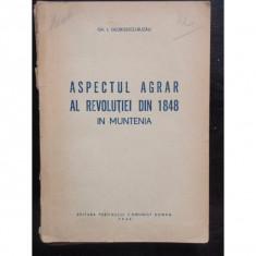 ASPECTUL AGRAR AL REVOLUTIEI DIN 1848 IN MUNTENIA - Curs Tehnica