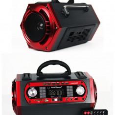 BOXA ACTIVA KARAOKE, ACUMULATOR, MP3 USB, AFISAJ, TELECOMANDA, MICROFON.NOU - Echipament karaoke