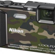 Aparat foto digital Nikon Coolpix AW130, camuflaj