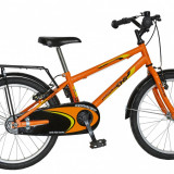Bicicleta DHS Kid Racer 2003 culoare PortocaliuPB Cod:215200342 - Bicicleta copii, 10 inch