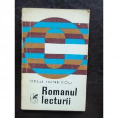 ROMANUL LECTURII - GELU IONESCU - Carte Antologie