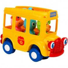 Jucarie Bebelusi Vitamina G Autobuz Scolar Cu Figurine Lumini Si Sunete - Jucarie zornaitoare