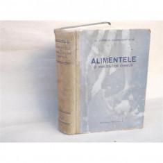 Alimentele si analiza lor chimica, Dr. Cornelia Sandru - Costache, 1957 - Carte Chimie