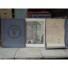 Planse de arhitectura in limba rusa 3 volume , Arhitectura
