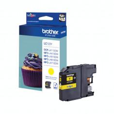 Cartuş cerneală galben Brother LC123Y DCP-J4110DW/MFC-J4410DW/J4510DW - Cartus imprimanta