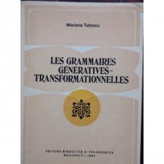 LES GRAMMAIRES GENERATIVES - TRANSFORMATIONNELLES