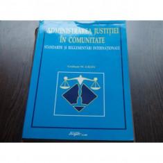 ADMINISTRAREA JUSTITIEI IN COMUNITATE - GRAHAM W.GILES