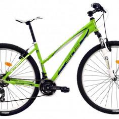 Bicicleta DHS Terrana 2922 (2016) Culoare Verde/Alb 457mmPB Cod:21629224589 - Mountain Bike