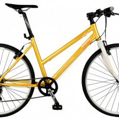 Bicicleta DHS Origin 2896 Culoare Galben 495mmPB Cod:21528964941 - Bicicleta de oras DHS, Otel