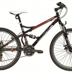 Bicicleta DHS Terrana 2645 (2016) Culoare Negru/Alb/Rosu 440mmPB Cod:21626454469 - Mountain Bike DHS, 17.5 inch, Negru-Rosu