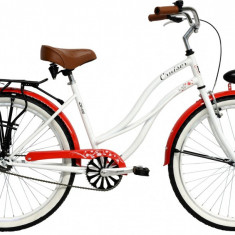 Bicicleta DHS Cruiser 2696 (2016) Culoare Alb 500mmPB Cod:21626965090 - Bicicleta de oras
