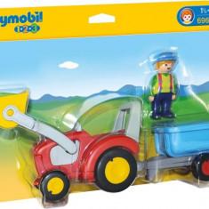 1.2.3 Tractor Cu Remorca - Masinuta electrica copii Playmobil