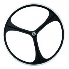 Roata Fata Fixa AeroWheels 700 Trio NegruPB Cod:40710NARM - Piesa bicicleta