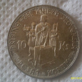 10 KORUN  10 COROANE 1944 REPUBLICA SLOVACIA  ARGINT a.UNC, Europa