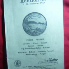 Catalog de Licitatie nr.56 Muller Solingen 1987 -Numismatica antica ,medievala