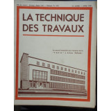 LA TECHNIQUE DES TRAVAUX NR.3/4 1940 - Carte veche