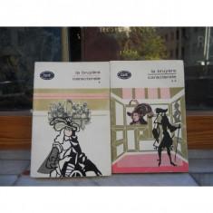 CARACTERELE, JEAN LA BRUYERE, VOLUMELE I SI II, 1968