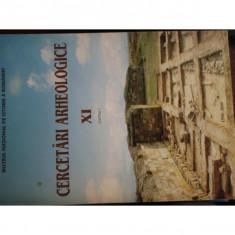 CERCETARI ARHEOLOGICE VOL.XI, PARTEA I
