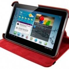 4World husa/suport protectie pt Galaxy Tab 2, Rotary, 7'', rosie - Husa Tableta
