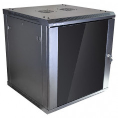 Linkbasic rack wall-mounting cabinet 19'' 12U 600x600mm black - Cabinet metalic