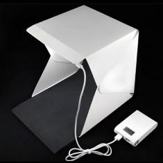 Cub fotografiere produs cu LED 22.6x23x24 cm - Echipament Foto Studio