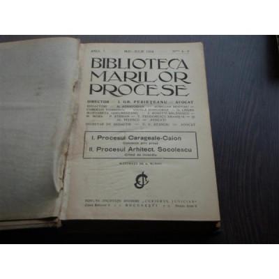 BIBLIOTECA MARILOR PROCESE - I.GR.PERIETEANU foto