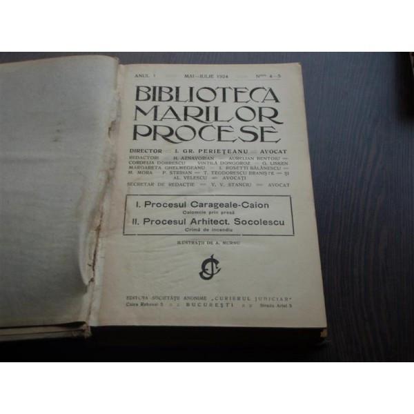 BIBLIOTECA MARILOR PROCESE - I.GR.PERIETEANU foto mare