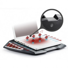 Stand notebook DeepCool 17' - metal & plastic, fan, 4* USB, boxe 2.1 (180Hz~15KHz), dimensiuni 456X3 - Masa Laptop